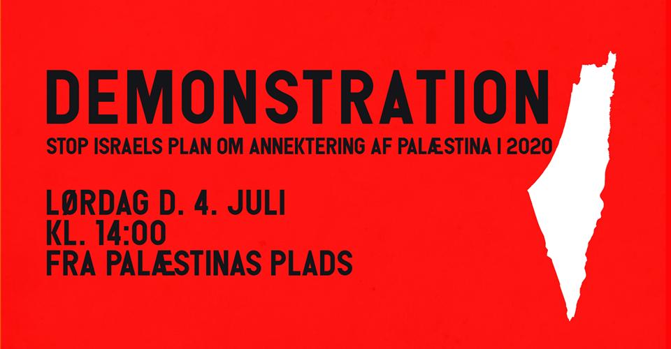 Demonstration Mod Annekteringen Af Palæstina!